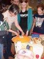 13. 3. 2015 - ukázka paličkování v Městském společenském centru, žáci 6. a 8. ročníku