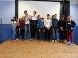 22. 1. 2018 školní kolo recitační soutěže, účastníci 4. kategorie (8. a 9. ročník)