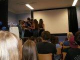 29.6. 2016 - rozloučení žáků 9. ročníku v projekční místnosti